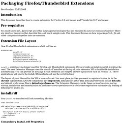 Packaging Firefox/Thunderbird Extensions