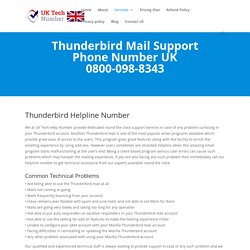 Thunderbird Mail Help Number 0800-098-8343 Thunderbird Support UK