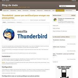 Thunderbird : passer par ownCloud pour envoyer vos pièces jointes