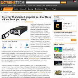 External Thunderbolt graphics card for Macs will not blow you away