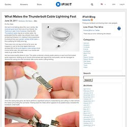 What Makes the Thunderbolt Cable Lightning Fast « iFixit Blog