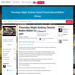 Thursday Night Sydney Tennis Robin Robin Competition is on!! - Thursday Night Sydney Social Tennis Round Robin Group (Sydney)