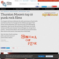 Thurston Moore's top 10 punk rock films