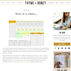 Week-At-A-Glance… | Life's A Journal