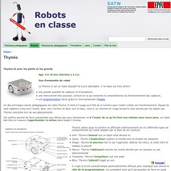 Thymio - Robots en classe