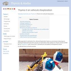 Thymio II en vehicule d'exploration - Thymio & Aseba