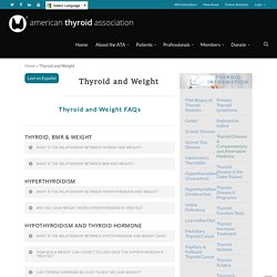 and Weight - American Thyroid Association