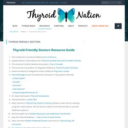 Thyroid-Friendly Doctors