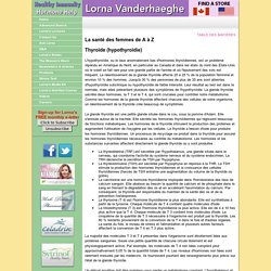 Thyroid (Hypothyroidism) FRENCH