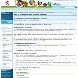 Test au TRH [Thyrotropin realising hormone] - Portail Santé // Grand-Duché de Luxembourg - Analyses biologiques