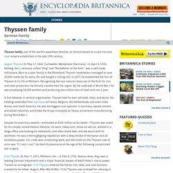 Thyssen family