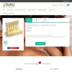 Tianli Ultra Power - Flask Pack 5 + 1 Free - Tianli