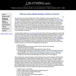 Tiberius Julius Abdes Pantera, Father of Jesus?