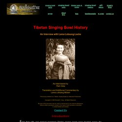 Tibetan Singing Bowl History