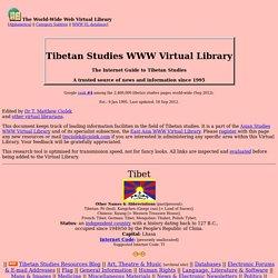 Tibetan Studies WWW VL