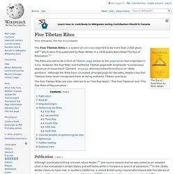 Five Tibetan Rites