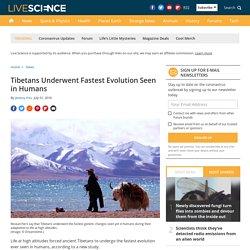 Tibetans Underwent Fastest Evolution Seen in Humans