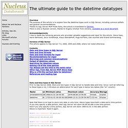 Tibor Karaszi's SQL Server pages