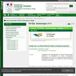 TIC'Édu Technologie n°11 — Technologie au collège