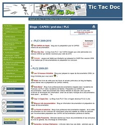 Blogs : CAPES / prof-doc / PLC