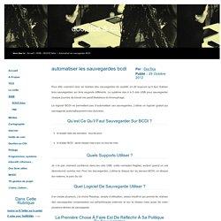 Doc, Tice & co... - Automatiser les sauvegardes BCDI