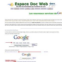 Tice au CDI: google- Espace Doc Web