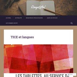 TICE et langues – Lingu@tic'