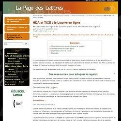 HDA et TICE : le Louvre en ligne