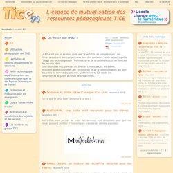 Tice 74 - Site des ressources pédagogiques TICE - B2I