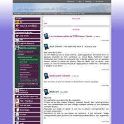 TICE26 - Les applis Ipad indispensables pour l'école