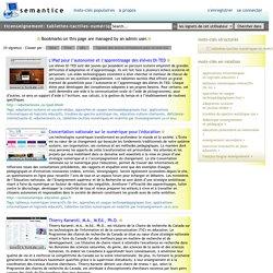 ticenseignement: tablettes-tactiles-numériques-et-mobilité