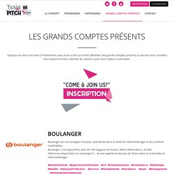 Ticket to Pitch - Ticket To Pitch : Les grands comptes présents