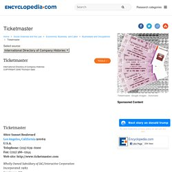 Ticketmaster facts, information, pictures