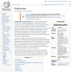 Ticketmaster - Wikipedia