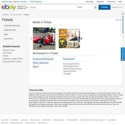 eBay: Eintrittskarten