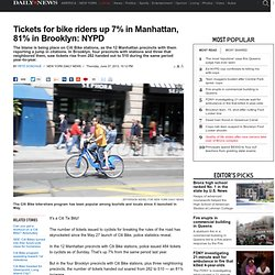 Tickets for bike riders up 7% in Manhattan, 81% in Brooklyn: NYPD