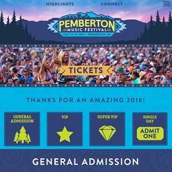 Tickets - Pemberton Music Festival