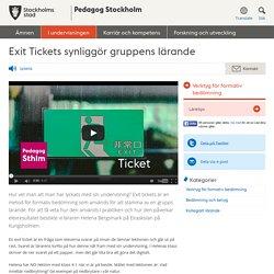 Exit Tickets synliggör gruppens lärande