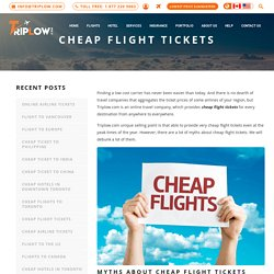 Book Cheap Flight Tickets with TripLow Travel Agency