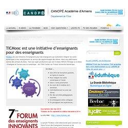 TICMooc est une initiative d'enseignants pour des enseignants