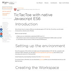 TicTacToe with native Javascript ES6 (Example)