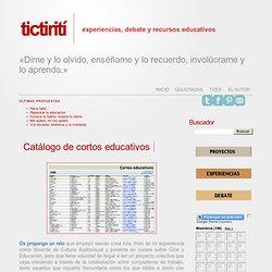 Catálogo de cortos educativos