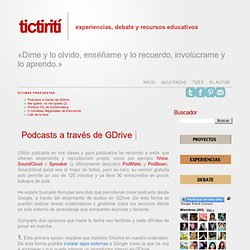 Podcasts a través de GDrive