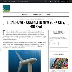 Tidal Power Coming To New York City, For Real