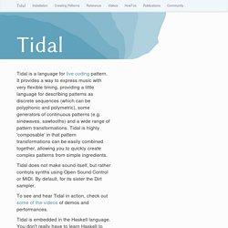 Tidal - Home