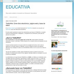 EDUCATIVA: TiddlyWiki: Entre libro electrónico, página web y base de datos