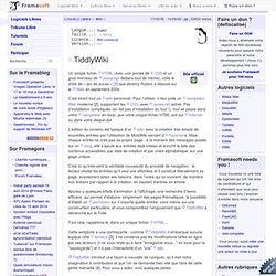 TiddlyWiki - Wiki