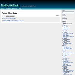 TiddlyWikiTasks - A checkbox-based Task List!