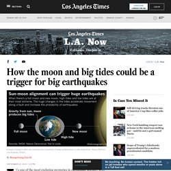 How the moon and big tides could be a trigger for big earthquakes