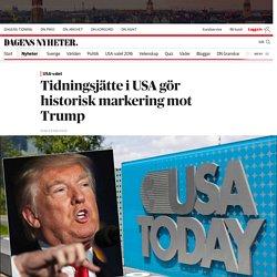 Tidningsjätte i USA gör historisk markering mot Trump